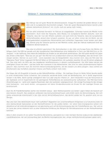 Marktkommentar _ Februar 2012 - SCA