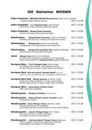 Unsere aktuelle Weinkarte - Zur Schmied'n