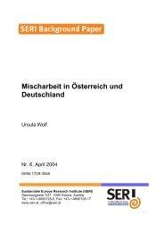 Mischarbeit in Österreich und Deutschland - SERI