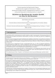 Richtlinien zur Beurteilung visueller Qualität von Glas - Sicurtec