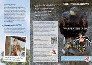 Wappentier in not GreifvoGelshoWs - Vier Pfoten