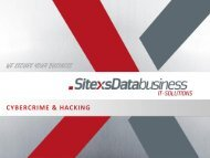 01-Technologieforum Cybercrime & Hacking.pdf - Sitexs-Databusiness ...