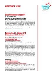 Programm Hundsturm bis Mai 2013 - Volkstheater