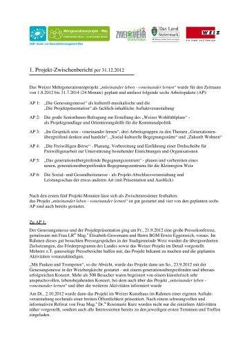 1 Zwischenbericht per 31-12-2012 - Weiz