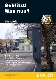 Geblitzt! Was nun? - ACS Automobil-Club der Schweiz
