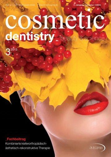 Cosmetic dentistry 03/2013 - AESTHETIKART