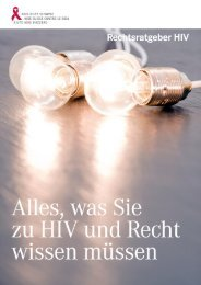 Rechtsratgeber (PDF) - Aids-Hilfe Schweiz