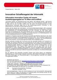Innovativer Schaffensgeist der Informatik Informatics Innovation ...