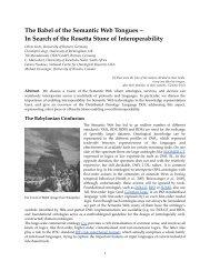 In Search of the Rosetta Stone of Interoperability - Informatik