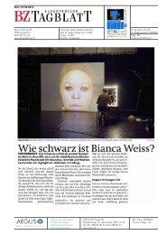 Berner Zeitung, Ntando Cele - Festival Belluard Bollwerk International