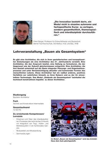 Auszug aus Hochschuldidaktischer Schriftenreihe Nr. 7 - Berner ...
