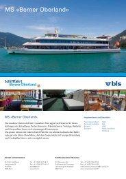MS «Berner Oberland» – BLS AG