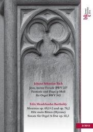 Sonate für Orgel A-Dur op. 65,3