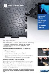 Verlegeanleitung BELMONDO® Classic, Box ... - und Agrotech AG