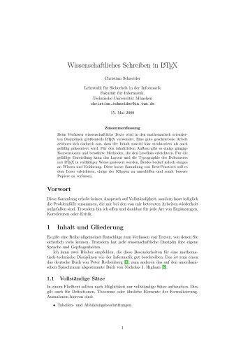 Wissenschaftliches Schreiben in LATEX - TUM