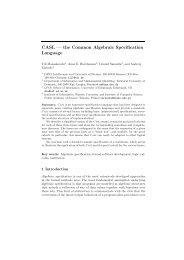 CASL — the Common Algebraic Specification ... - FB3 - Uni Bremen