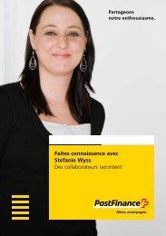 Faites connaissance avec Stefanie Wyss - Des collaborateurs ...