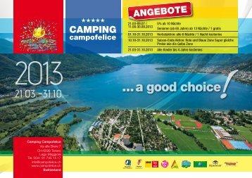 Camping Preisliste - campofelice