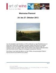 Weinreise Piemont 24. bis 27. Oktober 2013