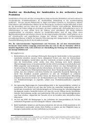 Manifest zur Abschaffung der Sandstrahlen in der weltweiten Jeans ...