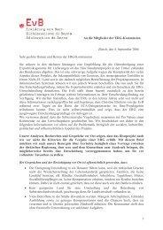 Brief an ERG-Kommission Ilisu 09-06 ff - Erklärung von Bern