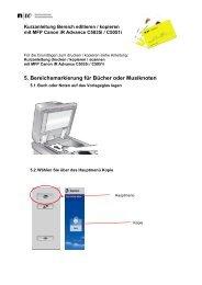 Anleitung editieren/kopieren von Bereichen mit MFP Canon iR ADV