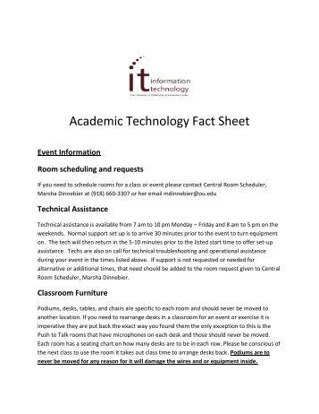 Academic Technology Fact Sheet - OU Alumni