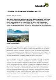 2. Laufevent «Luzern geht gern» startet am 13. Mai 2013 - futureLAB