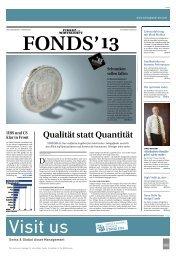 Qualität statt Quantität - Finanz und Wirtschaft