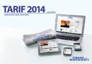FuW Tarif 2014 - Finanz und Wirtschaft