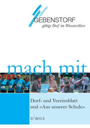 Mach Mit 3/2013 - Gemeinde Gebenstorf