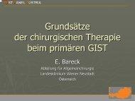 Grundsätze der chirurgischen Therapie beim primären GIST