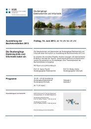 Ausstellung der Bachelorarbeiten 2013 Freitag, 14. Juni 2013, ab 16 ...