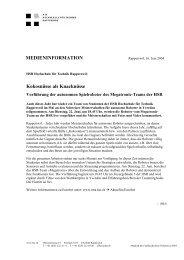MEDIENINFORMATION Kokosnüsse als Knacknüsse - HSR ...