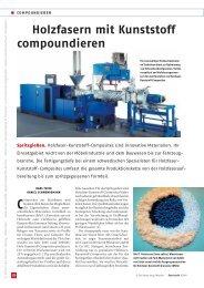 Holzfasern mit Kunststoff compoundieren