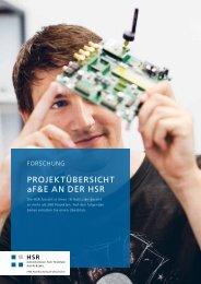 Forschungsübersicht der HSR 2013 - Hochschule für Technik ...