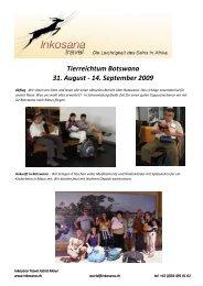 Tierreichtum Botswana 31. August - 14 ... - Inkosana Travel