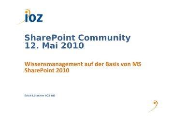 Wissensmanagement mit - IOZ AG
