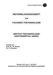 Radiologie - Kantonsspital Aarau