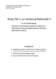Skript (Teil 1) - Fakultät Informatik/Mathematik - Hochschule für ...