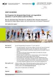 Flyer für Betroffene - Kantonsspital Aarau