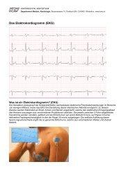 Das Elektrokardiogramm (EKG)