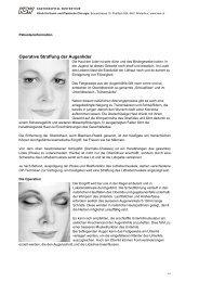 Operative Straffung der Augenlider - im Kantonsspital Winterthur