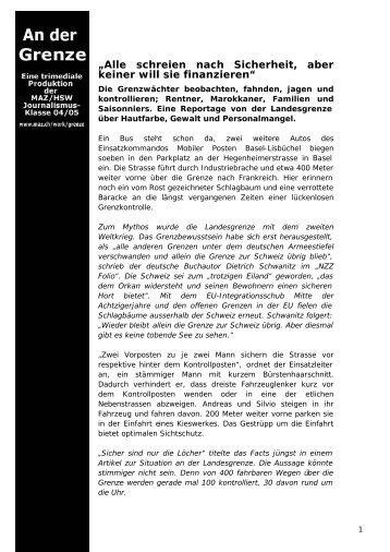 Printversion des Artikel als PDF - MAZ