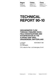 technical report 90-10 groundwater flow through fissured rock - Nagra