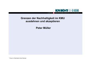 Peter Müller Grenzen der Nachhaltigkeit im KMU ausdehnen und ...