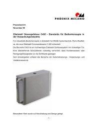 Edelstahl Steuergehäuse C420 - Phoenix Mecano Komponenten AG