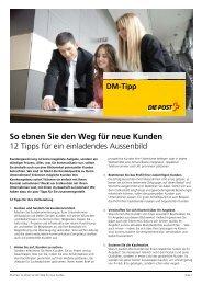 So ebnen Sie den Weg für neue Kunden - Die Schweizerische Post