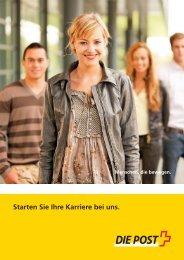 Starten Sie Ihre Karriere bei uns - Die Schweizerische Post