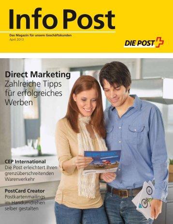 Info Post April 2013Link wird in einem neuen Fenster ... - Die Post